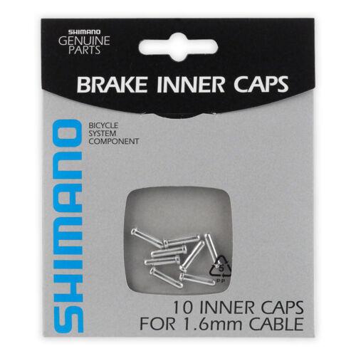 Pack of 10 New Shimano Aluminum Inner Cable End Caps 1.6 mm Brake Break Silver