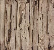 Papel pintado madera-Optik flotante vintage madera rápidamente rústico, por supuesto, marrón 273304