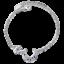 Solid-925-Sterling-Silver-Blue-Zircon-Moon-Star-Couple-Bracelet-Jewelry-Gift thumbnail 1