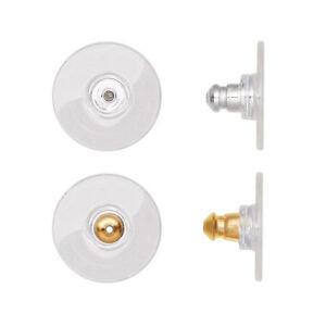 10-20-50-100-Large-Gold-Silver-Comfort-Clutch-For-Heavy-Earrings-Earnuts-Backs