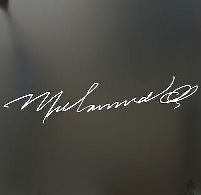 Muhammad Ali Signature Vinyl Decal Sticker Autograph Sports Star Boxing Champion