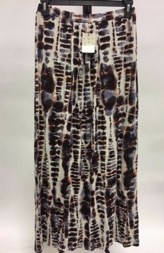 Lucy and Laurel Maxi Skirt Brown//White//Beige Tie Dye New Small//Medium// Large