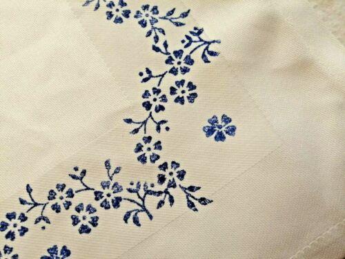 Blaudruck 6 Servietten blaublüten Muster von Arzberg 40x40 cm Hand bedruckt  neu