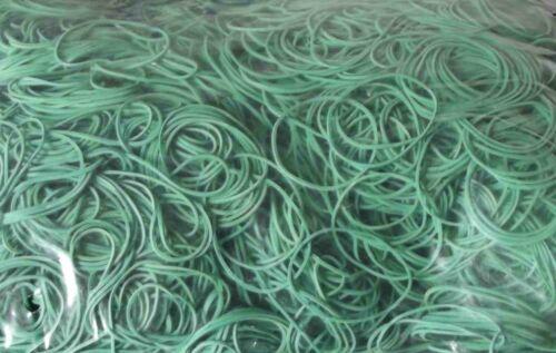 1 kg Gummiringe Gummibänder Haushaltsgummis Grün 40 mm Ø 1,2 x 1,2 mm breit