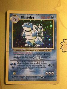 Vintage-Pokemon-Blastoise-Base-Set-Holo-Rare-2-102-WotC-Wizards-DMG
