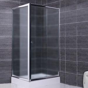 Box doccia 70x140 parete fissa e porta scorrevole in cristallo 6 mm vetro opaco ebay - Vetro doccia scorrevole ...