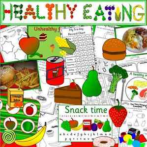 Details about Healthy Eating topic resource CD- food and drink, EYFS, KS1,  fruit and Vegetable