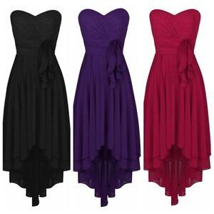 Women-Evening-Dress-Chiffon-High-Low-Bridesmaid-Formal-Long-Dresses-Wedding-Prom