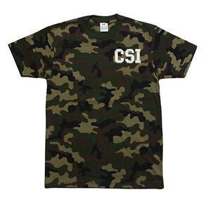 PRO-CLUB-CAMO-Camouflage-CSI-Crime-Scene-Investigation-T-SHIRT-T-SHIRT
