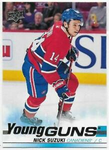NICK-SUZUKI-YG-RC-2019-20-Upper-Deck-471-Montreal-Canadiens