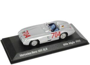 Mercedes 300 Slr W198 Ii # 704 Mille Miglia 1955 1:43 Minichamps (modèle du concessionnaire)