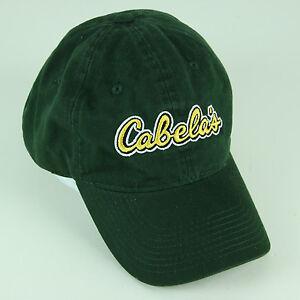 ea9f3864b65 Image is loading Cabelas-Green-Baseball-Cap-Hat-Cabela-039-s-