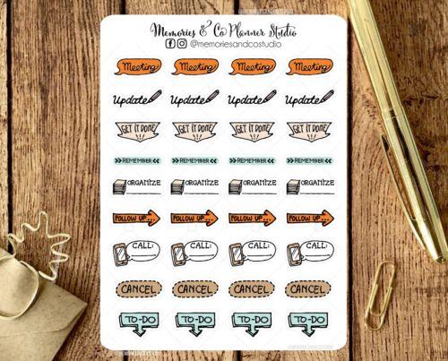 Office Planner StickersBusiness Work Reminder Icon Functional Stickers