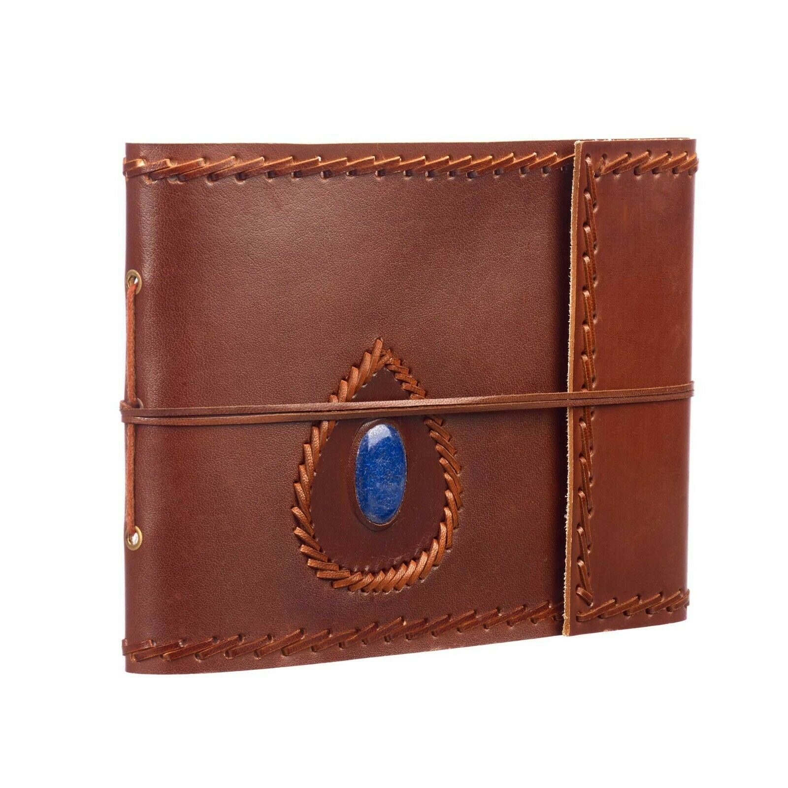 Semi-Precious Stone Leather Photo Album Scrapbook, Fits 120 6x4