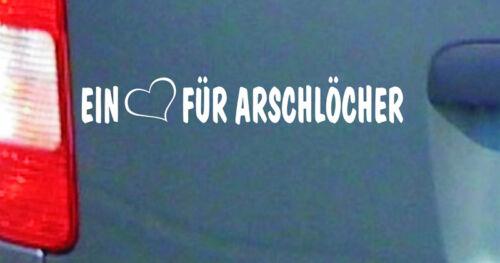 cartattoo4you AK-01237  EIN Auto Aufkleber Sprüche FÜR ARSCHLÖCHER Herz