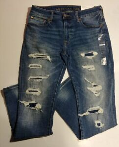 NWT American Eagle Outfitters AEO Men's Ne(X)t Level Slim Destroy Jean【31 x 32】
