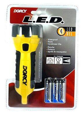 DORCY 41-2510 4 LED Carabineer Waterproof Flashlight With Batteries