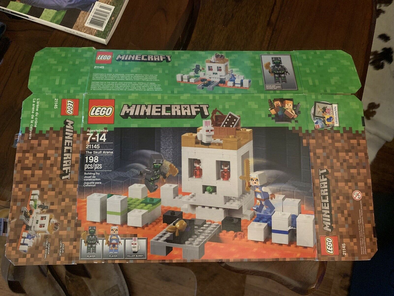 MIN064 NEW LEGO SKULL ARENA PLAYER 1 FROM SET 21145 MINECRAFT