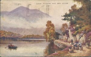 Loch-katrine-and-ben-venue-1938-valentine-art-colour