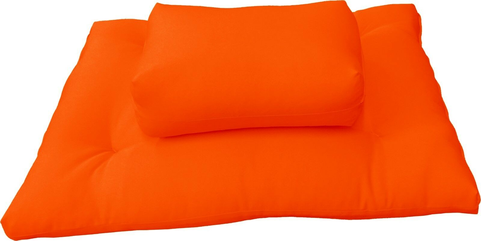 orange Zabuton Zafu Set, Yoga Meditation Cushions, Floor Sitting Seats, Kneel