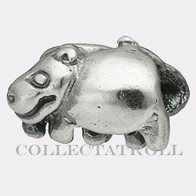 Authentic Trollbeads Silver Hippopotamus 11215