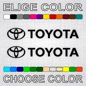 PEGATINAS-TOYOTA-X2-vinilos-coche-autocollant-aufkleber-adesivi-sticker-auto-car