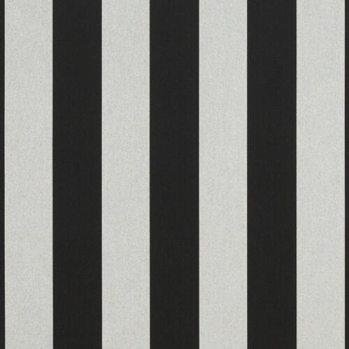 "6 Bar 46/"" 5704-0000 Sunbrella Beaufort Black//White Awning Marine Fabric Grey"