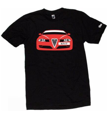 ALFA ROMEO GT CUSTOM HTees T-shirt Choose car colour /& plate Sizes S-XXXL