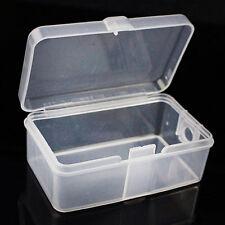 2X Praktische Plastik Transparente Sammlung Container Fall Lagerung Kasten Wenig