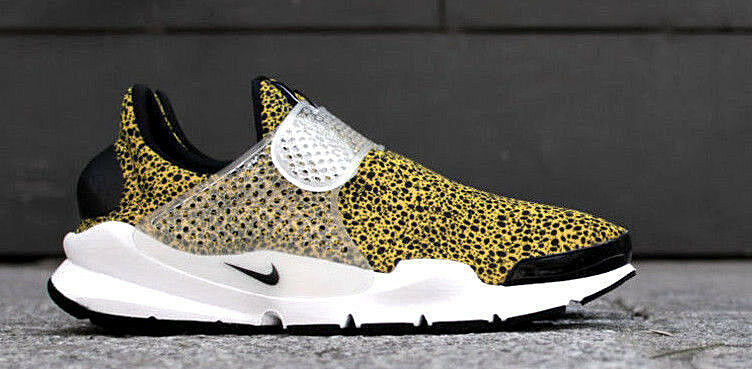 NIKE AIR 2019 Sock Dart QS gold Black Off White Safari Pack 10 942198-700 SALE