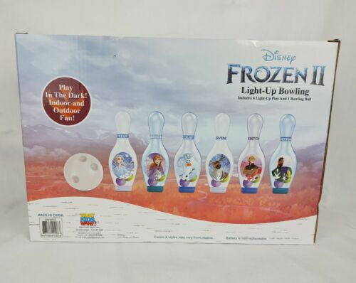 Disney Frozen II Light-Up Bowling 6 Pins /& 1 Ball Play In the Dark Indoor or Out