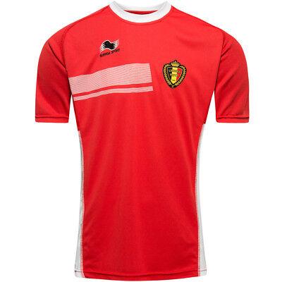 Belgien Fußball Burrda Sport Trainings Trikot 14BG161M-9973 rot. L XL 2XL neu