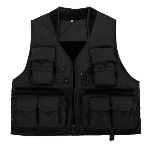 Sport Angelweste Outdoor Weste mit Reißverschluss und Multi-Taschen