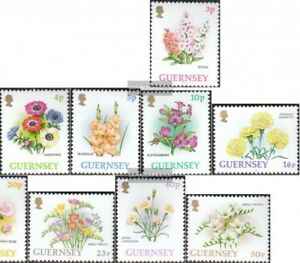 GB-Guernsey-557-566-kompl-Ausg-postfrisch-1992-Blumen