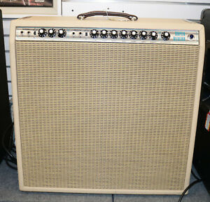 Vintage-1975-Fender-Super-Reverb-Silverface-Guitar-Amplifier-Amp-Blonde-Tolex