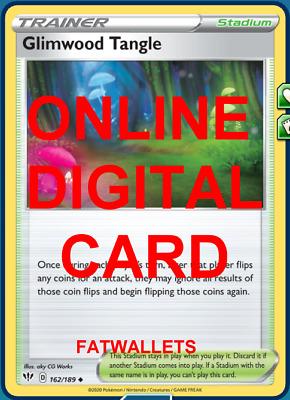 DIGITAL FAST! Pokémon Online 4x Glimwood Tangle 162//189 Darkness Ablaze