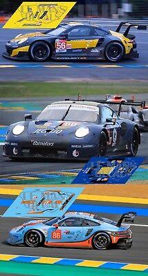 Calcas Porsche 991 RSR Le Mans 2017 86 1:32 1:43 1:24 1:18 911 decals
