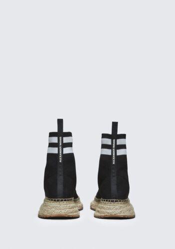 Alexander Wang Feminino Dylan Espadrille Anabela escolha um tamanho preto MSRP $450