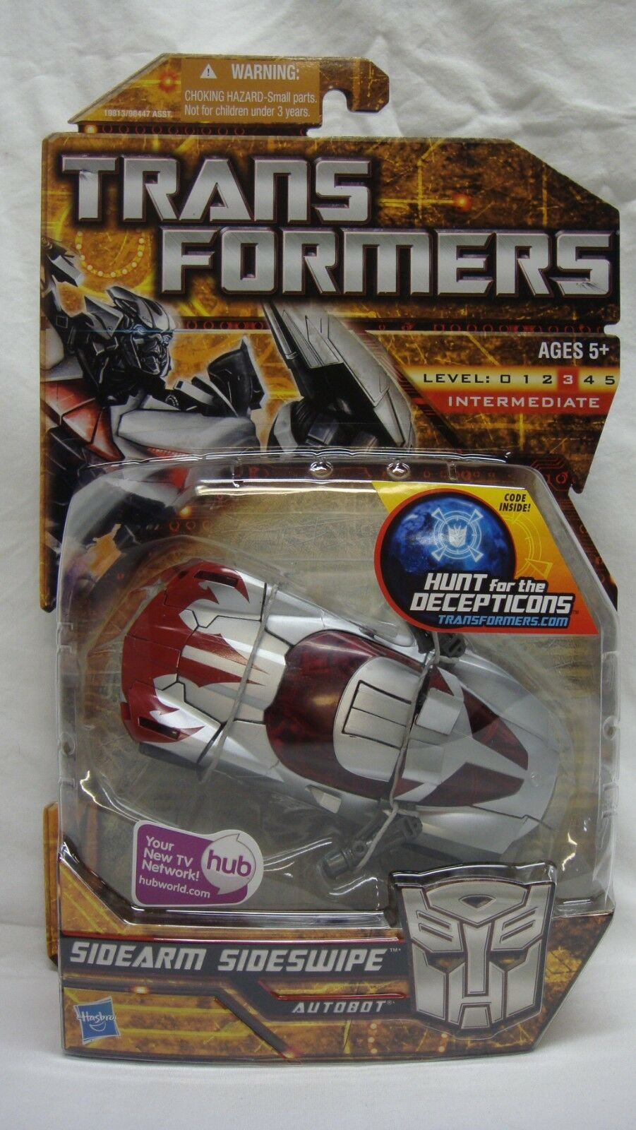 TRANSFORMERS HFTD HUNT FOR THE DECEPTICONS SIDEARM SIDESWIPE DELUXE NEW SEALED