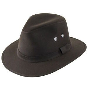 c87a3965734 Image is loading Failsworth-Cotton-Wax-Drifter-Fedora-Brown