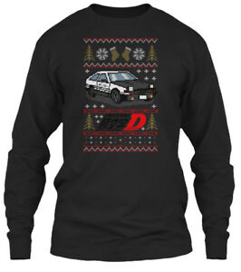 Initial-D-Ugly-Sweater-Gildan-Long-Sleeve-Tee-T-Shirt