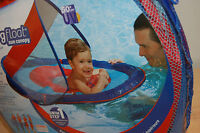 Nip Swimways Sun Canopy Baby Spring Float 9-24 Months Pool Blue Fpu 50+