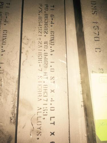"""Titanium Flat Bar 6AL-4V 1 X 4 X 25/"""""""