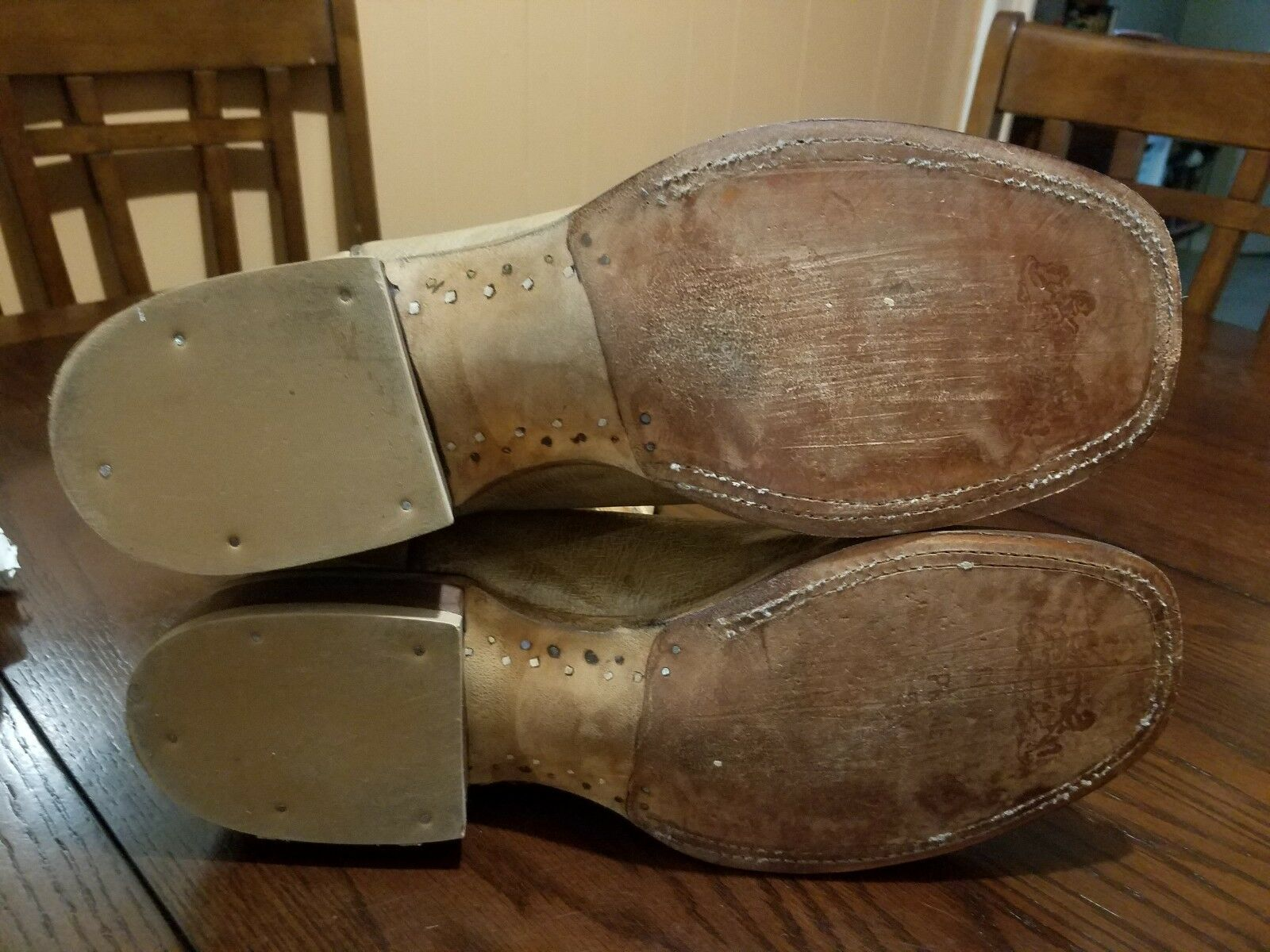 Lucchese Smooth Ostrich Square Stiefel Toe Roper Cowboy Stiefel Square Größe 10.5 D 8852f2
