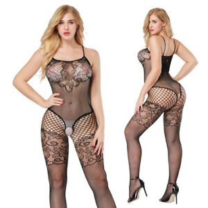 187486885 Image is loading Sexy-Open-Crotch-Bodystocking-Babydoll-Lingerie-Erotic- Women-