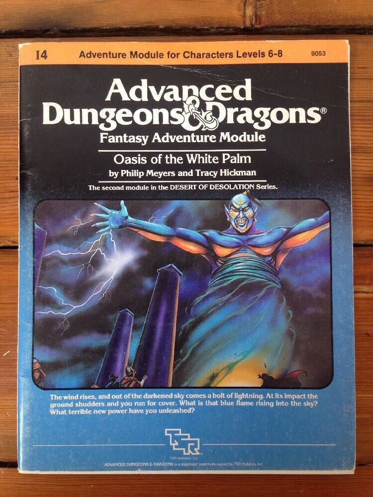 AD&D 1983 I4 Oasis Of The Weiß Weiß Weiß Palm TSR 9053 Dungeons Dragons Module D&D c838b0