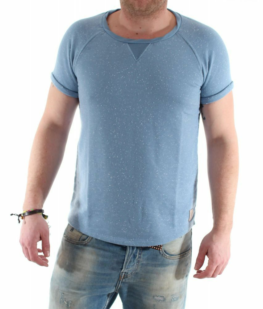 Scotch & Soda Short sleeve crew neck schweiß Blau