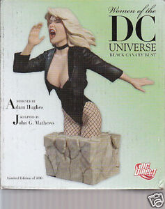 SCULPTURE-BLACK-CANARY-buste-women-of-DC-Adam-Hugues