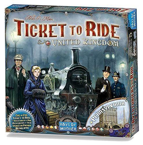 Ticket to ride Royaume-Uni et en Pennsylvanie jeu