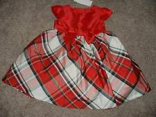 Gymboree Red Bow Plaid Holiday Christmas Dress Size 12-18 Months NWT NEW Formal